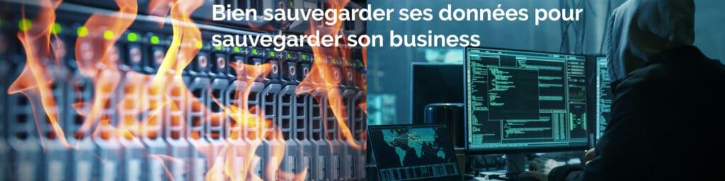 Les serveurs en feu, un hacker informatique